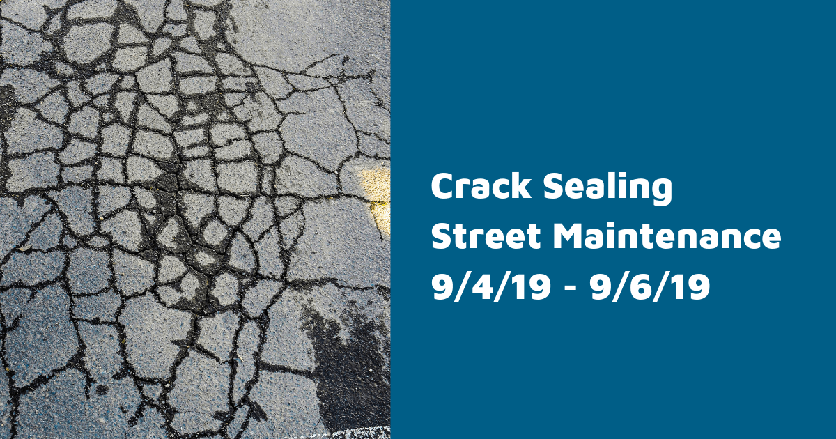 Crack Sealing Street Maintenance